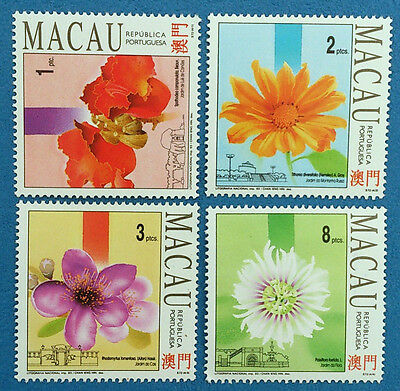 Portugal Macau Stamps 1993 Flowers & Gardens 2nd Series(Mint Condition) Set of 4