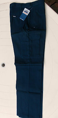 DNC Ladies navy Cargo Pants, Style 3322  Work Wear sizes  8-18  FREE POST