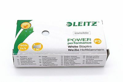 LEITZ Heftklammern 24/6 Power Performance P3, weiß