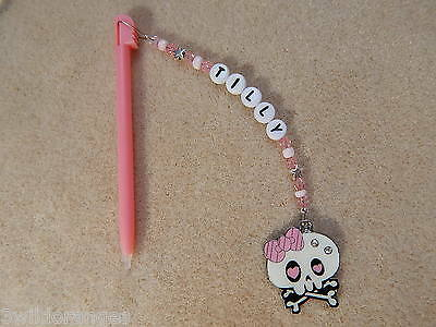 Personalised DSi DS Lite Stylus / Pen with charm Monster High  pink