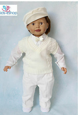 Baby Boy Cream Smart Tank Top Outfit Christening Special Occasion Formal Party