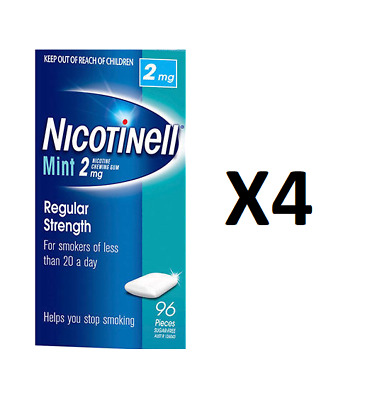 Nicotinell Mint Gum 2mg 384 Pack - quit smoking -LARGE PACK