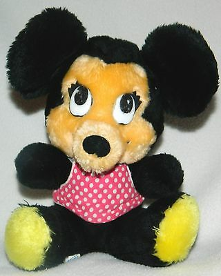 "Vintage 1960's Walt Disney World Disneyland MINNIE MOUSE 9"" Plush Doll Toy"