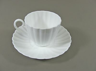 Susie Cooper China WHITE FLUTE Cup & Saucer Set(s) Multi Avail