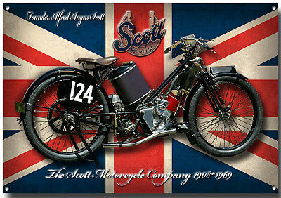 LARGE A3 SIZE VELOCETTE LE MK2 1957 MOTORCYCLE ENAMELLED METAL SIGN.1957 CLASSIC