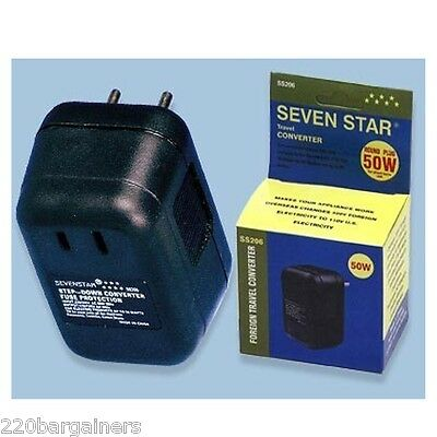 50 Watt Voltage Converter Converts 220 VOLTS down to 110 VOLTS OVERSEAS ONLY