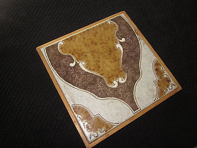 ITALIAN TILE TRIVET HOT PLATE PAN HOLDER MADE IN ITALY 8.5 x 8.5 INCHES