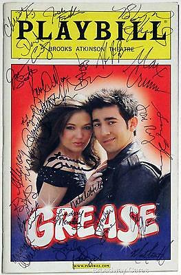 Laura Osnes, Max Crumm + Cast Signed GREASE Opening Night Playbill