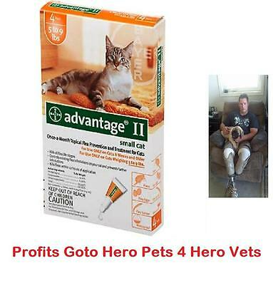 Advantage II Small Cat Cats 5-9 lbs 4 MONTH Pack Once-A-Month Flea Prevention