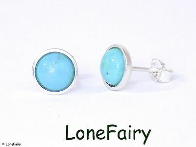 earrings genuine round stud tiny children haohwjb blue child turquoise silver studs dainty teeny p everyday c