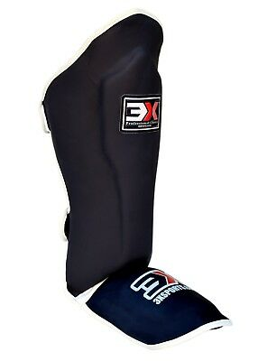 3X Sports Shin Instep Pads Legs Kick Foot Guards Muay Thai Boxing Training MMA