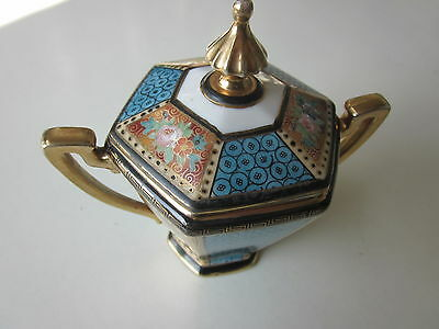 Antique Noritake Hand Painted Sugar Bowl with Lid