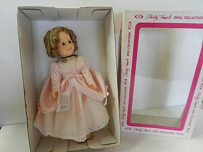 SHIRLEY TEMPLE LITTLE COLONEL IN PINK DRESS 11 IN TALL    BY IDEAL BOXED