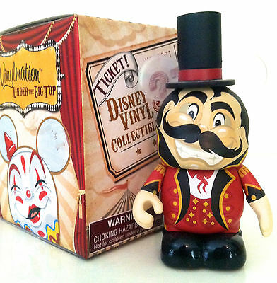 """Disney Vinylmation UNDER THE BIG TOP RING MASTER 3"""" with hat New in Box"""