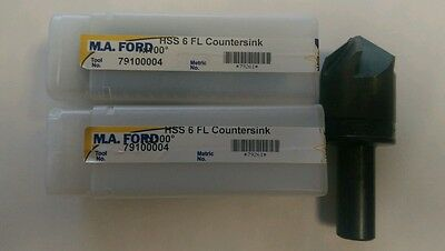 """Countersink MA FORD 1"""" 6 FLUTE 100 DEGREE COUNTERSINK EDP#79261"""