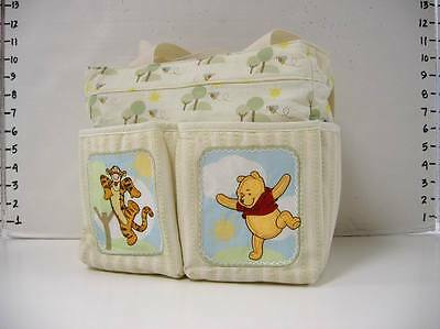 Small Disney Pooh Tigger Ivory Baby Diaper Bag :Shower Gift