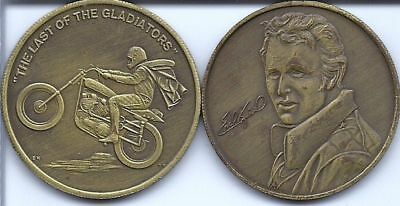 """A Scarce Evel Knievel Medallion """"The Last of the Gladiators"""""""