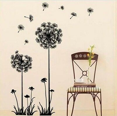 Home Decor DIY Removable Flying Dandelion Art Mural Decal Room Wall Sticker