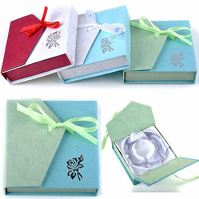Newest Paper Square Package Bowknot Jewellery Bracelet Present Gift Box Case