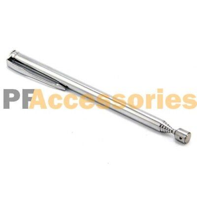 Long Retractable Strong Magnetic Pickup Tool Pick Up Tool Silver Pocket Clip New