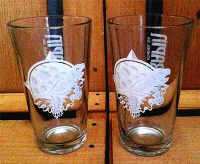NEW 2 TERRAPIN BEER COMPANY PINT TURTLE DRINKING GLASSES BAR SET ATHENS GEORGIA