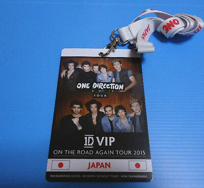 ONE DIRECTION /1D/Japan tour 2015 VIP Seat Limited Pass/ Neck Strap/ Lanyard