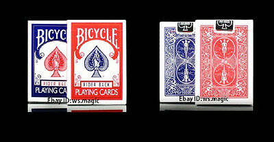 New 2 Classic Bicycle Decks Standard Size 808 Poker Playing Cards (Blue And Red)