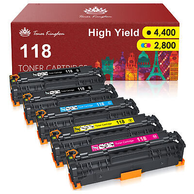 5PK Toner Cartridge Black Color Set For Canon 118 ImageCLASS MF8380CDW MF8580CDW