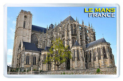Le Mans France Cathedral Fridge Magnet Souvenir Iman Nevera