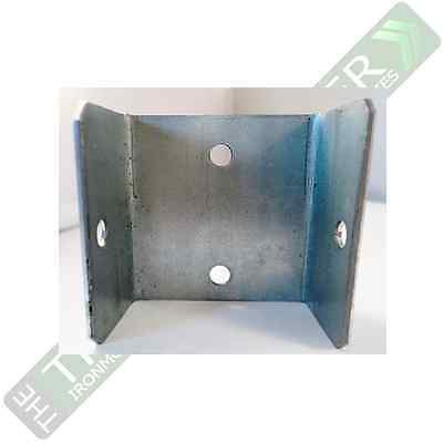 Fence Panel Clips / Trellis Clip Brackets - Sizes approx 40, 46 or 52mm in Galv