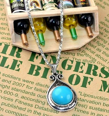 New Classical Natural hot resin cute tibet silver Necklace+Pendant H-1418