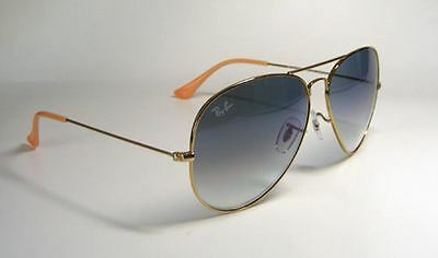 New In Box Ray Ban RB3025 Gold Frame Blue Gradient Lens 58mm 001/3F