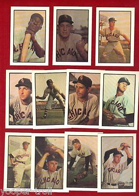 1953 Chicago WHITE SOX Bowman reprint Trading Card Lot of 11 FOX + LOLLAR + ?