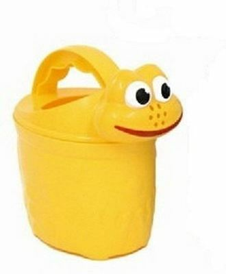 Childrens Frog Watering Can Yellow Beach Toys Activity Children Kids Garden Toy
