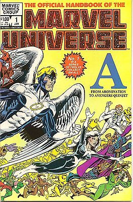 The Official Handbook of the Marvel Universe #1 (Jan 1983, Marvel)