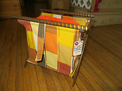 Vintage/Retro Boye Sewing Bag Tote and Stand, Cloth & Wood