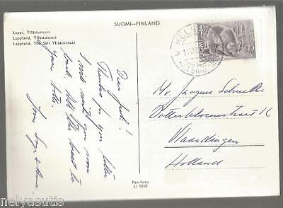 Old Postcard Finland Suomi Real Photo Lappland