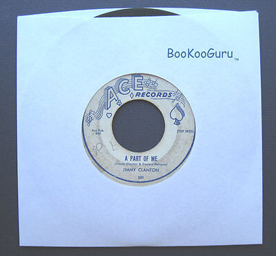 Ace Records, Jimmy Clanton, A Letter to an Angel, Jukebox Record, 45 RPM