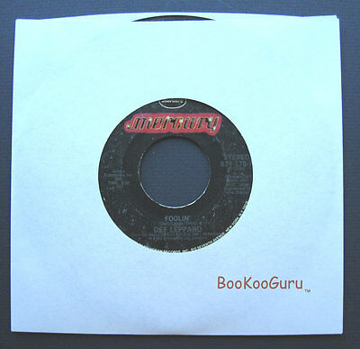 Mercury Records,Def Leppard,Comin' Under Fire,1983,Stereo,Jukebox Record, 45 RPM