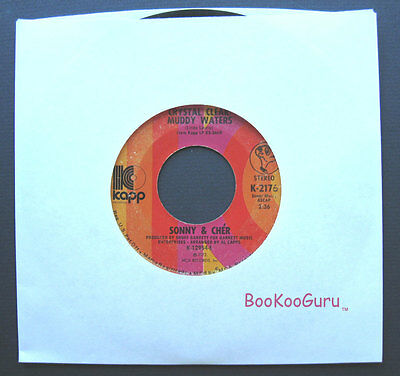 Kapp Records, Sonny & Cher, When You Say Love, 1972, Jukebox Record, 45 RPM