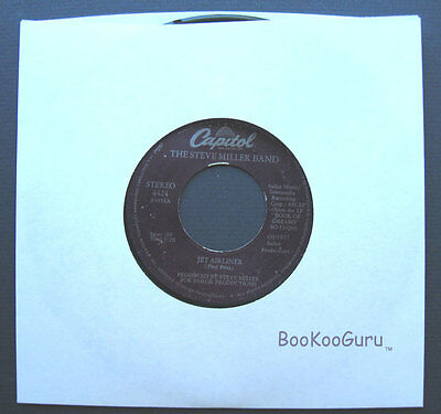 Capitol Records,The Steve Miller Band,Jet Airliner,1977,Stereo,Jukebox,45 RPM