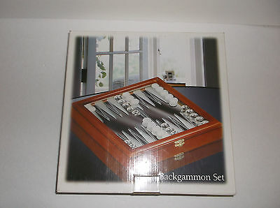 GLASS MIRRORED BACKGAMMON GAME SET MARBLE PLAYING PIECES For Decorative Purpose