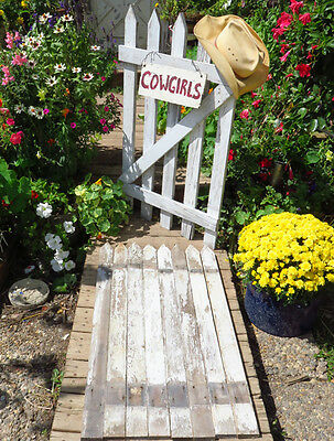 Antique Reclaimed Picket Fence LOT of 8 Board LUMBER Vintage White Chippy Paint