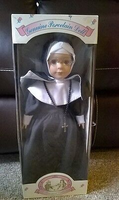 "HTF 16"" Nun Doll A Treasured Collection Genuine Porcelain 1996"