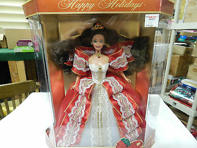 BARBIE = 10TH ANNIVERSARY  HAPPY  HOLIDAYS   BARBIE DOLL  MADE 1997