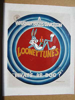 """FRIZ FRELENG Bugs Bunny """"What's up Doc"""" 242/750 Looney Tunes animation cel"""