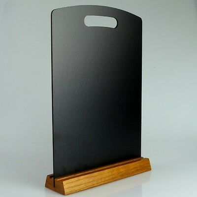 A4 Chalk Board Menu With Wooden Stand