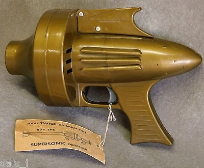 ATOMIC OUTER SPACE AIR RAY GUN by AIDS INC. Excellent cond. w/ Tag  ca. 1957-58