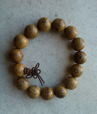 1pcs Nice 15mm Wenge Wooden Beads Bracelet for Cool Men and Fashion Men