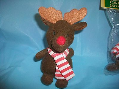KITTY CAT REINDEER PLUSH TOY PULL RING & IT JITTERS &/OR CHRISTMAS TREE ORNAMENT